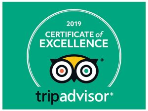 Trip Advisior 2019 Cert of Excellence